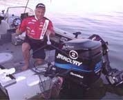 Tony Puccio in his Starcraft Boat